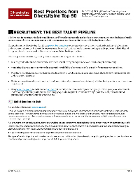 Recruitment - The Best Talent Pipeline