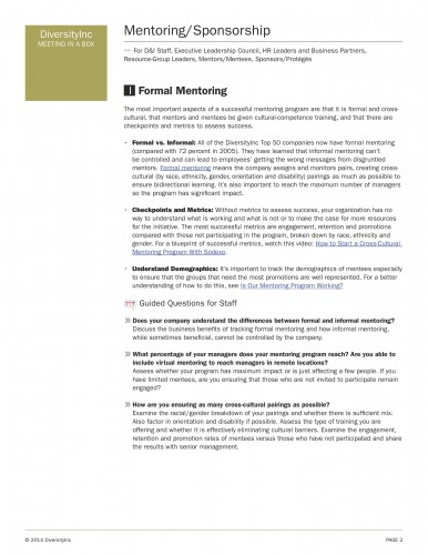 Formal Mentoring