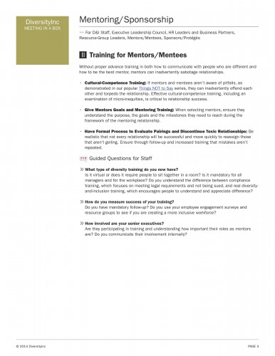 Training for Mentors/Mentees