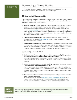 Mentoring/Sponsorship small