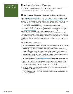 Succession Planning/Mandatory Diverse Slates small