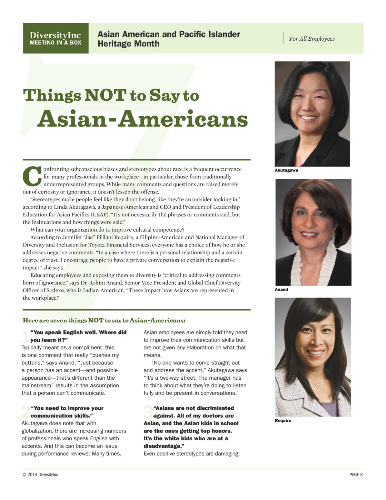 Things NOT to Say to Asian-Americans