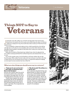 Things NOT to Say to Veterans