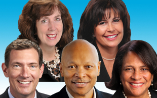 Pat Rossman, Kathy Hannan, Mark King, Michael Ford, Sharon Harvey Davis