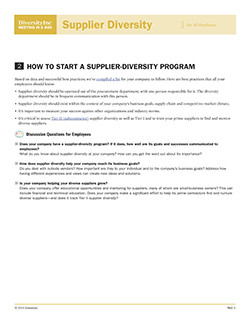 How to Start a Supplier-Diversity Program