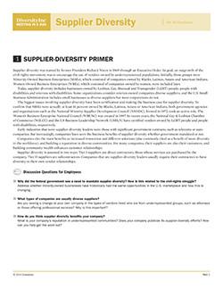Supplier-Diversity Primer