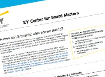 EY: Women on U.S. Boards—What Are We Seeing?