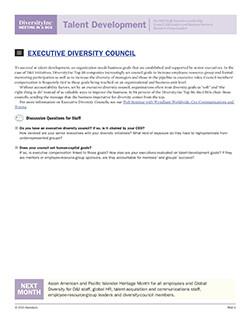 Executive Diversity Councils