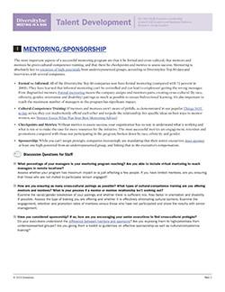 Mentoring/Sponsorship