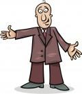 dumb bald white guy cartoon