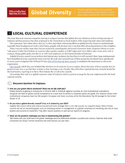 Local Cultural Competence