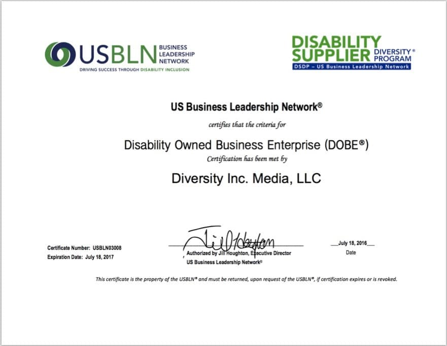 USBLN certificate